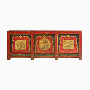 Antique Qinghai Painted Pine Sideboard
