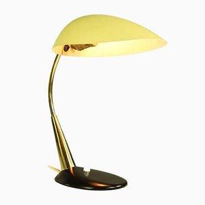 Lampada da tavolo vintage in ottone gialla e nera di Cosack, anni '50