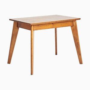 Vintage Eichenholz Schreibtisch im Prouvé Stil