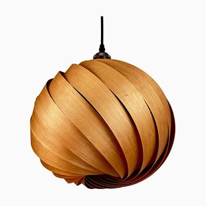 Mela Cherry Wood Hanging Lamp by Gofurnit