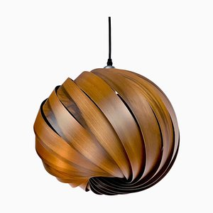 Mela Smoked Walnut Hanging Lamp by Gofurnit