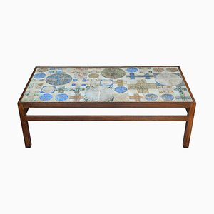 Mid-Century Coffee Table with Tiled Top by Tue Poulsen & Erik Wørts for Willy Beck