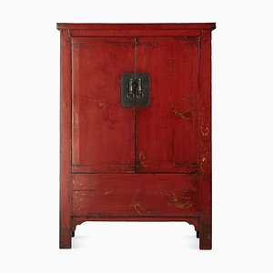 Antique Red Lacquered Wedding Cabinet