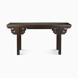 Vintage Tisch aus Ulmenholz mit Wolkenkopf Zwickeln