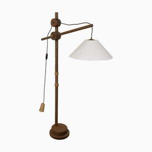 Lampada da terra vintage in legno