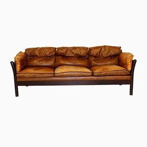 3-Sitzer Leder Sofa, Schweden, 1960