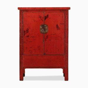 Armoire Vintage Laquée Rouge