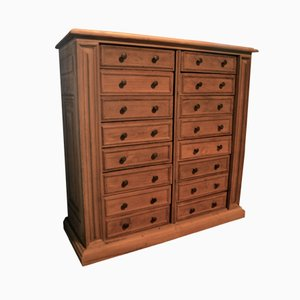 Large French Oak Chest of Drawers with Marble Top