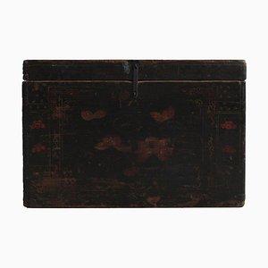 Baule vintage nero laccato