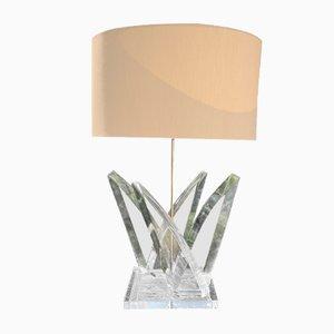 Plexi und Messing Lampe von Hivo Van