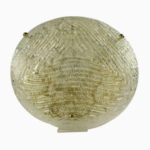 Große Mid-Century Deckenlampe aus Glas von Kalmar