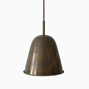 Mid-Century Modern Perforated Brass Church Pendant Lamp, Germany, 1950s