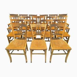 Französische Esszimmerstühle, 1960er, 18er Set