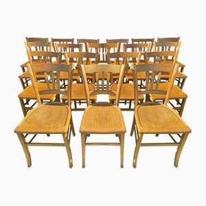 French Dining Chairs, 1960s, Set of 18