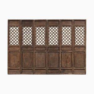 Antike Gittertürplatten, 6er Set
