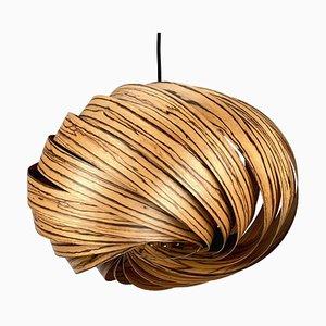 Lampada a sospensione Quiescenta in legno zebrano di Gofurnit