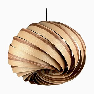 Quiescenta Olive Ash Wood Pendant Lamp by Gofurnit