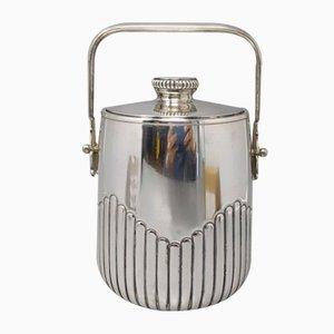 Secchiello per il ghiaccio termico placcato in argento di Aldo Tura per Macabo, Italia, anni '50
