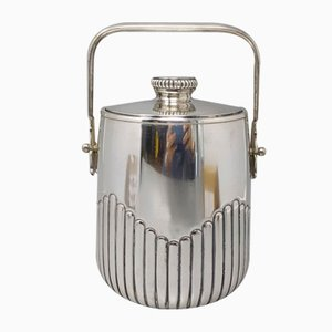 Silver Plated Thermal Ice Bucket by Aldo Tura for Macabo, Italy, 1950s