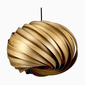 Quiescenta Satin & Walnut Pendant Lamp by Gofurnit