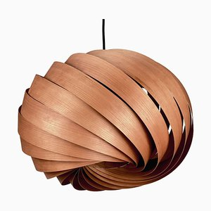 Quiescenta Cherry Wood Pendant Lamp by Gofurnit