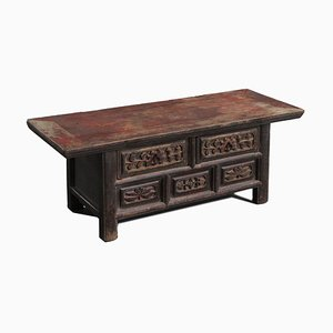 Carved Kang 2-Drawer Table