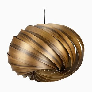 Quiescenta Hanging Lamp in Smoked Satin Walnut by Gofurnit