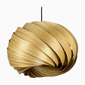 Quiescenta Oak Pendant Lamp by Gofurnit