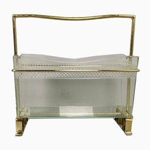 Portariviste Gio Ponti in ottone e vetro, anni '50