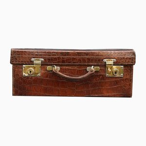 Vintage Crocodile Leather Suitcase