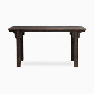 Antiker chinesischer Malvorgang Tisch aus Ulmenholz