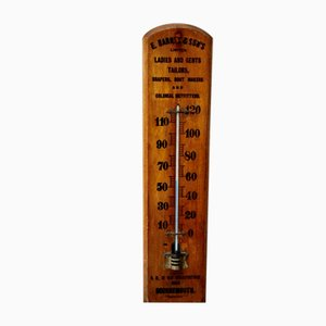 Vintage Werbung Thermometer aus Holz