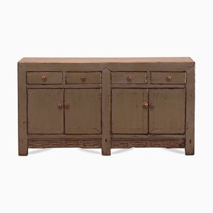 Gray Lacquered Double Sideboard