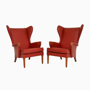 Vintage Wing Back Armchairs from Parker Knoll, Set of 2
