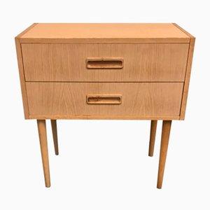 Danish Oak Bedside Table, 1960s