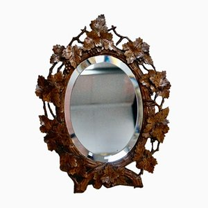 Antique Black Forest Easel Mirror