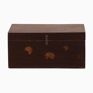 Painted Black Lacquer Blanket Box