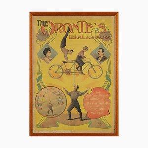 E. Löffler, Oronte's Ideal Company, Gerahmtes Original Manifest, 1900er