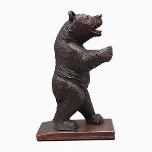 Ours Sculpté Forêt Noire 19ème Siècle