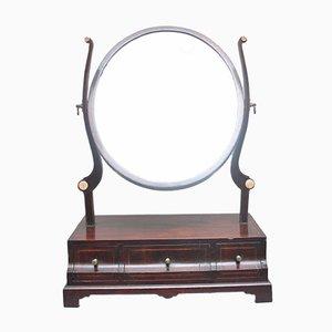 Specchio da toeletta in mogano, inizio XIX secolo