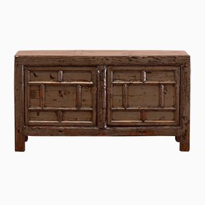Panelled Gray Lacquer Sideboard