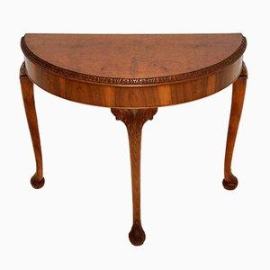 Table Console Style Anne Anne Antique en Loupe de Noyer