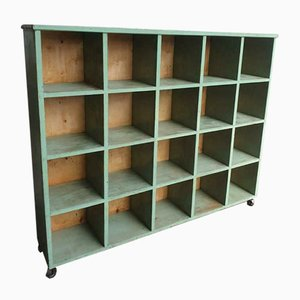 XXL Green Compartment Cabinet, Bookcase or Wall Cabinet