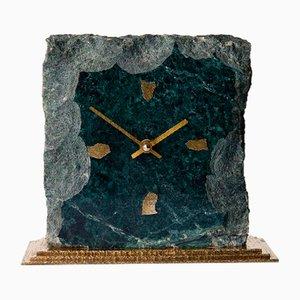 Marble Table Clock with Brass Base by Kienzle for Kienzle International, Germany