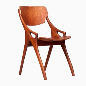 Vintage Teak Side Chair, 1960s