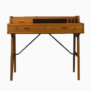 Danish Teak Model 56 Desk by Arne Wahl Iversen, 1961