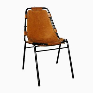 Vintage Tubular Les Arcs Dining Chair by Charlotte Perriand, 1960s