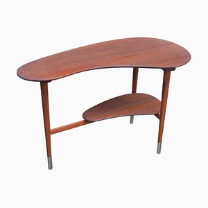 Mid-Century Danish Teak Coffee Table with Kidney-Shaped Top, 1960s