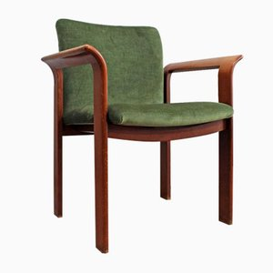 Vintage Green Velvet Lounge Chairs from Wiesner-Hager, Set of 2