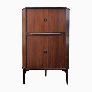 Vintage Danish Rosewood Corner Cabinet with Bar Section, 1960s
